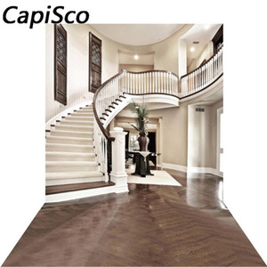 Capisco Vinyl Photography Background Interior Staircase Hall Mansion Photographic Backdrop for Studio Photo Props