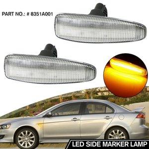 Car Dynamic LED Side Marker Lights Turn Signal Light Side Lamp Amber for Mitsubishi Lancer EVO X 8351A001