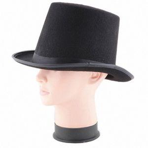 1PC 높은 품질 할로윈 재미 HAT 선물 블랙 햇 할로윈 마술사 매직 재즈면 L * 5 RF7f #