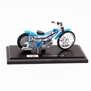 Maisto Diecast alliage Speedway Racetrack modèle de moto jouet, 01h18 Échelle, Ornement, pour Noël d'anniversaire d'enfant garçon ramassant des cadeaux, 2-2