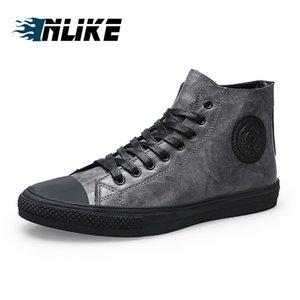 Adam Sonbahar Casual Ayakkabı için inlike YENİ Moda Yüksek Top Erkekler Skate Board Ayakkabı Erkek'S Deri Bilek Boots Ayakkabı