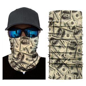 New 3D Digital Printing Outdoor Riding Mask Cross-Border Explosion Magic Scarf Sunscreen Scarf Multi-Function Face Towel