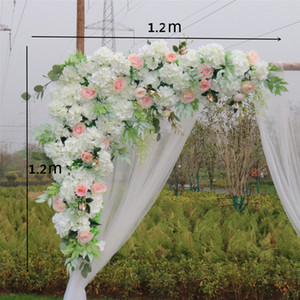 1set 120cm European style DIY Wedding stage decor artificial flower wall Arch silk rose peony plant mix design decor flower wall