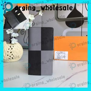 De largo doble pliegue billetera de cuero de moda estilo largo de embrague hombres de las mujeres monedero de las carteras de moda casual femenina monedero cero Brazza LB100 LB106