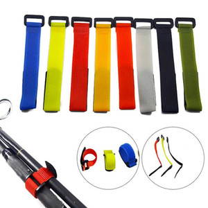 10pcs Tied Strap Nylon Button Strap Anti-tie Fishing Rod Binding Outdoor Fishing Gear Accessories Random Color