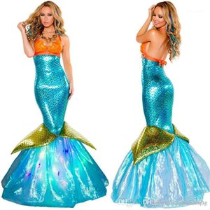 Dresses Fashion Festival Party Clothes Halloween Mermaids Sexy Theme Costume Adult Skinny Long Womens