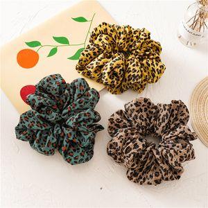 Ins Oversized Scrunchies Girls Hair Ties Elastic Hair Bands Print Ponytail Holder Leopard Big Scrunchie Women Hair Accessories