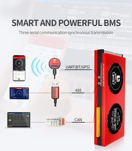 LiFePO4 16S BMS 48V 120A 150A 200A Bluetooth 485 to USB device CAN NTC UART togther Lion LTO Batteries