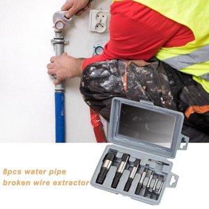 8шт Durable Water Pipe Сломанные Наборы Bolt Remover Гаджеты Ручной инструмент Поврежденный кран треугольник клапан Винт Extractor сверло