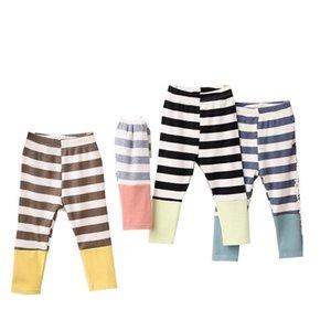 Factory Price Newest INS Autumn Kids Girl Pants Stripes Leggings Designer Stylish Korean Kids Cotton Fashion Leggings Children Pants