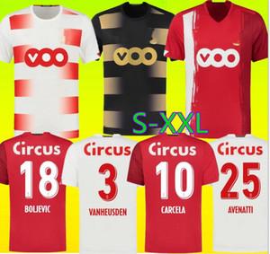 20 21 Standard Liège Soccer Jerseys Home Limbombe 2020 2021 R.Standard de Liège Vanheusden Laifis Cimirot Emond Carcela Football Shirts