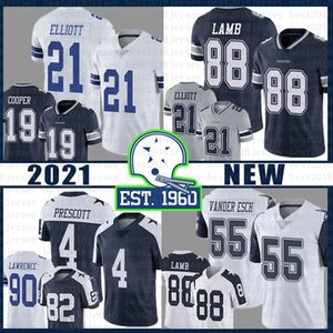 88 CeeDee Lamb DallasCowboy 4 Dak Prescott 21 Ezekiel Elliott football Jersey 55 Leighton Vander Esch DeMarcus Lawrence Cooper Staubach