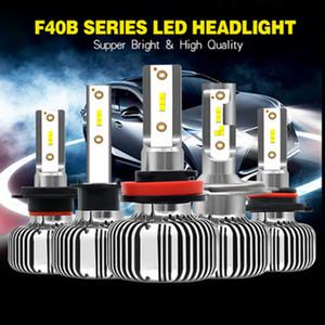 JIAMEN H1 LED H7 H4 H11 Phares antibrouillard 9006 9005 4 3 6000K Light Car 9012 HIR2 12V Led Automobile Phares économie d'énergie Ampoule