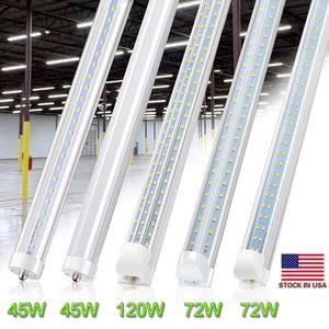 8feet V en forma de tubo T8 lateral doble LED se enciende R17D giratoria de 8 pies de 45W 65W tienda de lámparas LED se enciende