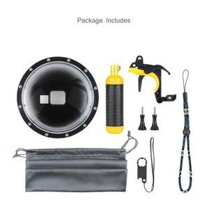 Dome Goggles 6 Port-Zoll-Abdeckung Kamera wasserdicht Fisheye Sphärische Tauchmaske mit Griff Auslöser für Qgvo #