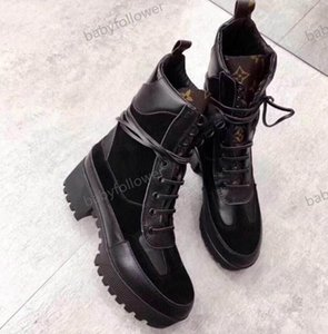 High heeled Martin boots Winter Coarse heel woman shoes designer Desert Boots 100% real leather Fashion luxury boots Large