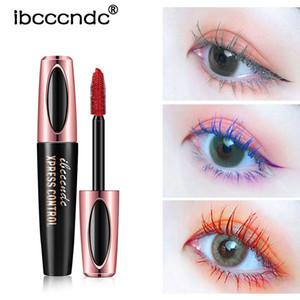 Free shipping Ibcccndc Magic Eyelashes double enlarge your eyes 4D 6 Colors Mascara for eye makeup