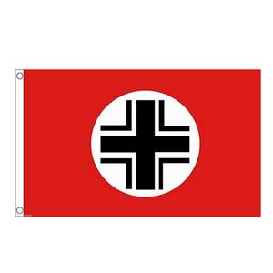 Alemán de la Segunda Guerra Mundial Bandera Balken 3x5ft Impresión Digital de poliéster interior al aire libre Uso club impresión de pancartas y banderas mayorista