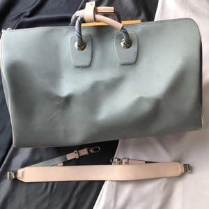 bayanlar Man kadın ve erkek omuz çantası gerçek deri En kaliteli crossbody kılıf çanta için Keepall 50 Seyahat Çantaları
