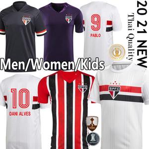 2020 2021 Сан-Паулу футбол Джерси Dani Alves PATO Нене PABLO Эрнанес Helinho Пользовательские 20 21 Home Away Мужчины Женщины Дети Молодежный футбол рубашка