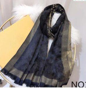 bufanda caliente a estrenar de la cachemira de la moda de las mujeres Señora del invierno otoño de oro etiqueta de algodón de seda de la correa larga toalla suave Bufandas Bufandas 180 * 70cm
