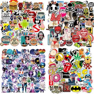 100pcs / Lot portatile impermeabile Skull Horrible Adesivi Graffiti Patches Adesivi Adesivi auto e decalcomanie della bicicletta del motociclo Deposito Skateboard