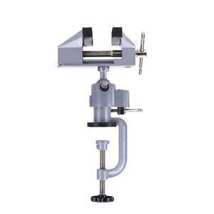 Многонациональные 2 В 1 Таблица тиски Тиски из алюминиевого сплава 360 градусов вращающийся универсальный тиски Precise Mini Тиски Зажим инструмента