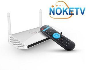 LeadCool Android Media Player com um ano Código de TV Noke para Programas de TV Europeia Francês Árabe Italiano
