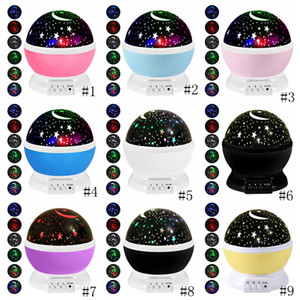 Night Light Projector Lamp Etoiles Starry Sky LED Projecteur d'enfants d'enfants de sommeil de bébé Led romantique lampe de projection Party Décoration GGA3710-1
