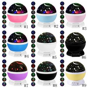 Cielo estrellado de la noche lámpara del proyector ligero Estrellas proyector LED niños de los niños del sueño del bebé de la lámpara de proyección LED romántico de la decoración del partido GGA3710-1