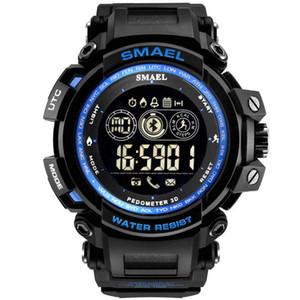 Mayforest Мужчины цифровые наручные часы Светодиодный дисплей Часы для Мужской Цифровые часы Мужчины Спортивные часы Большой набор 8018 Wtaerproof Мужские Часы
