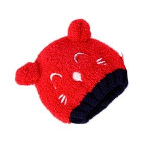 Baby Toddler Kids Boy Girl Knitted Children's Lovely Spire Soft Hat kid cap Plush Hat Earmuffs Children Christmas Headwear#E20