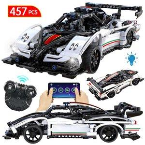Brinquedos Meninos veículo de corrida remota Bricks Car Modelo App para SUV Blocos Criador Edifício Cidade Sports Crianças Rc Technic Controle Moc iBArq