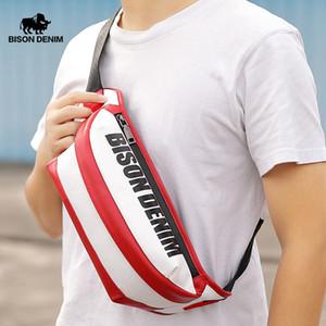 SARINE الدينيم حقيقية جلدية CROSSBODY الأزياء حقيبة الكتف الشريط الصدر حزمة الخصر جلدية حقيبة N20002