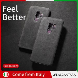 SanCore samsung S9 phoneCase Deri ALCANTARA fasion İş Düşmeye karşı deri lüks prim cep telefonu aşınma önleyici Kılıf pro