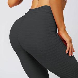 JGS1996 Sport-Gamaschen-Frauen Gym High Waist Push Up Yoga Pants Jacquard Fitness Legging Laufhose Frau Enge Sporthosen