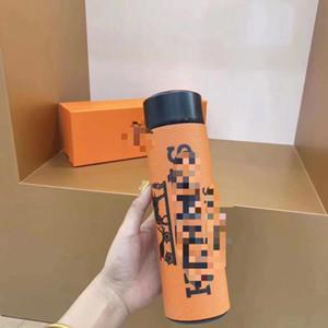 Famosos pattren acero inoxidable Copas frasco de vacío térmica Copa Café Taza termo botella de agua de la pantalla de temperatura Thermo Hervidor Copa Moda