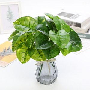 Artificial Plants Plastic Grass Turtle Leaves Wall Green Plant Accessories Party Wedding Decoration Potted Fake Flowers