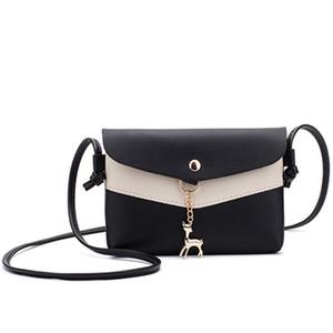 Le nuove donne il modo delle borse impermeabili qualità imitazione lether donne borsa a tracolla bag corssbody casaul di colore Patchwork
