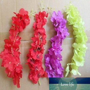 Simulation Wisteria Flower Ceiling Hanging Ornament Hydrangea Vine for Wedding Home Decorations Free Shipping