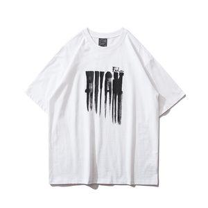 Verano Nueva Hip Hop camiseta de los hombres y las mujeres de la personalidad del alma Resumen Impreso mitad de la manga remata las tes ropa de sport de algodón sueltos en la calle