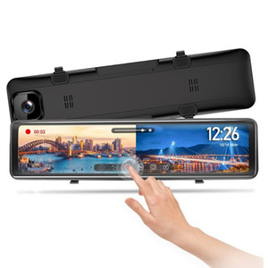 12 Inch Car DVR 2K Stream Media Dash Cam Contact Touch Screen Dash Camera Dual Lens Rearview Mirror Driving Recorder
