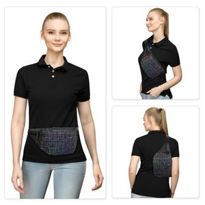 Sports waist bag nylon reflective material sports outdoor sports running waist bag