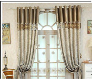 2020 hot sale Curtain cloth European embroidery curtain cloth living room bedroom semi shading curtain pin can be customized products
