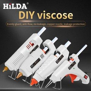 HILDA pistola de cola quente Electric Industrial silicone armas Thermo gluegun Ferramentas de reparo de calor para Metal / Madeira Trabalho DIY EACV #