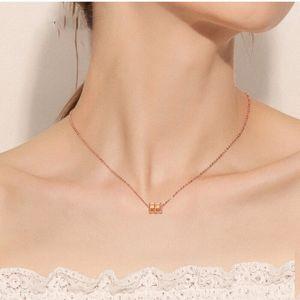 Women S Fashion Jewelry Slim Waist Necklace Women S925 Sterling Silver Tide Net Red Korean Style Non-Mainstream Simple Elegant Elegant Clavi