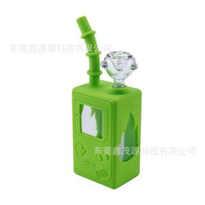 tubería de la tubería de agua pipas de agua de silicona máquina de agua juego de accesorios para fumar pipas de agua pelele de espesor de vidrio dabber piezas tazón cachimbas shisha