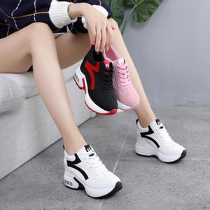 brand Women Lightweight Sneakers Women Outdoor Height Increasing Shoes Woman NEW Breathable Comfort Shoes Air Cushion Lace Up W5 200922
