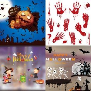 9ul9a pie DrawingsStyle de Windows HCY rojo etiquetas engomadas de Halloween cm HorrorParty decoración de la pared de Palm