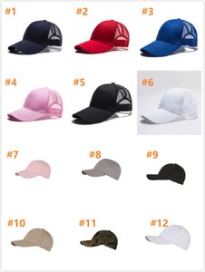 Adult Ponytail Baseball Cap Plain Solid Ball Caps Women Snapback Summer Sport Sun Hats Girl Fashion Hat With Rear Opening